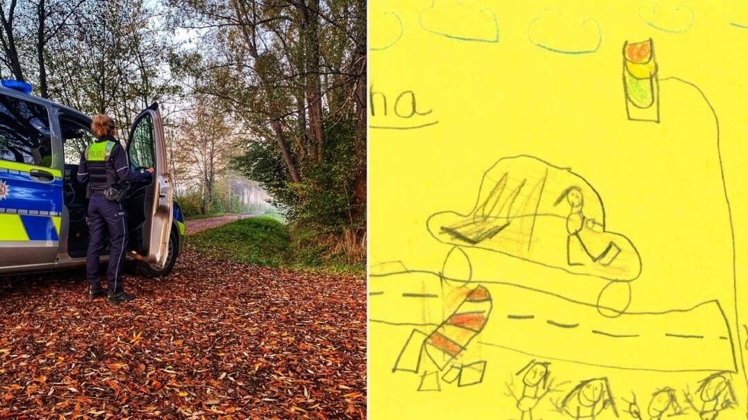 Niemieccy policjanci wykorzystali rysunki dzieci jako pomoc w śledztwie