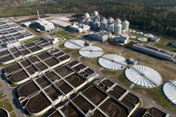 Oczyszczalnia Czajka to jedna z inwestycji, która powstała z pomocą UE Kacper Kowalski/ aeromedia.pl dla MPWiK