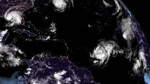 Dwa huragany i trzy burze tropikalne w tym samym czasie. Nie zdarza się to często