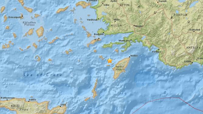 Trzęsienie ziemi na Rodos. <br />Było odczuwalne też w Turcji