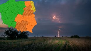 Cała Polska burzowa. Szczególnie niebezpiecznie może być między innymi Mazowszu
