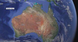 Kolorowe plamy na pustyni w Australii