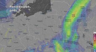 Opady deszczu w ciągu kolejnych dni (Ventusky.com | wideo bez dźwięku)